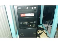 home pc system with 17in monitor and keyboard and all leads