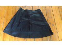Black Faux Leather Skirt (UK 12)