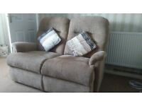 Two Seater, chair and footstool