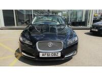 JAGUAR XF 2.2 D PREMIUM LUXURY 4d AUTO 190 BHP + SAT NAV + B/TOOTH + LEATHERS (black) 2011