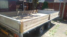 3.5 tonne 2 axis FlatbedTrailer