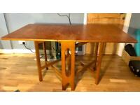 Drop-leaf table, real wood