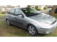 Ford Focus edge, 5 mths MOT, 5 door, silver, good history.