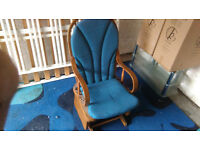 solid wood antique style rocking chair