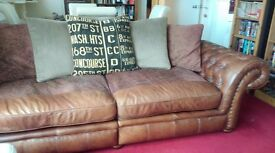 4 Seat sofa and large snuggle chair.