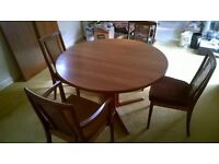 Solid Teak Table and 8 Chairs fantastic condition