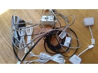 Mixed bag of phone cables,filters + accessories