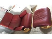 Ekornes Stressless armchair and footstool