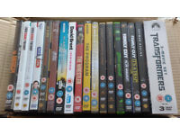 Box Of Misc DVDs - Inc Avengers, Man From Uncle, Batman, The Hobbit, Transformers