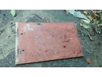 Used red concrete tiles good condition