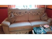 10 month old 3 piece suite excelent condition recliner genuine reason for sale