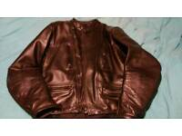 Frank Thomas Vintage/Classic black leather motorbike jacket