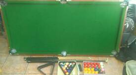 Riley snooker table 6ftx3ft foldable