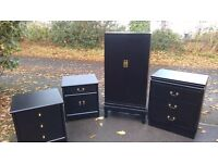 Bedrom/office/lounge/ FURNITURE , BLACK TOTAL 4 PIECES . GREAT CONDITION...BLACK
