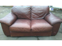 bargain job lot of various items and furniture including leather sofa