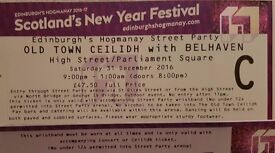 Edingburgh Hogmanay - Old town Ceilidh with Belhaven and Street party - 5 tickets