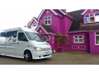 MINIBUS hire LONDON, ESSEX, KENT, BROMLEY, CROYDON, SUSSEX 16 seater WITH DRIVER ANY TIME