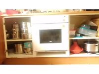 Full kitchen with appliances- old but good! Available for pick up w/e 30-31 July only