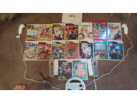 Wii Bundle including great games and 2 numchucks