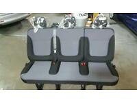 vauxhall vivaro / renault trafic new rear bench seat with seat belts and floor fixings