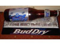 Massive Budweiser Bud dry advertising pub sign pool /snooker table light 110V