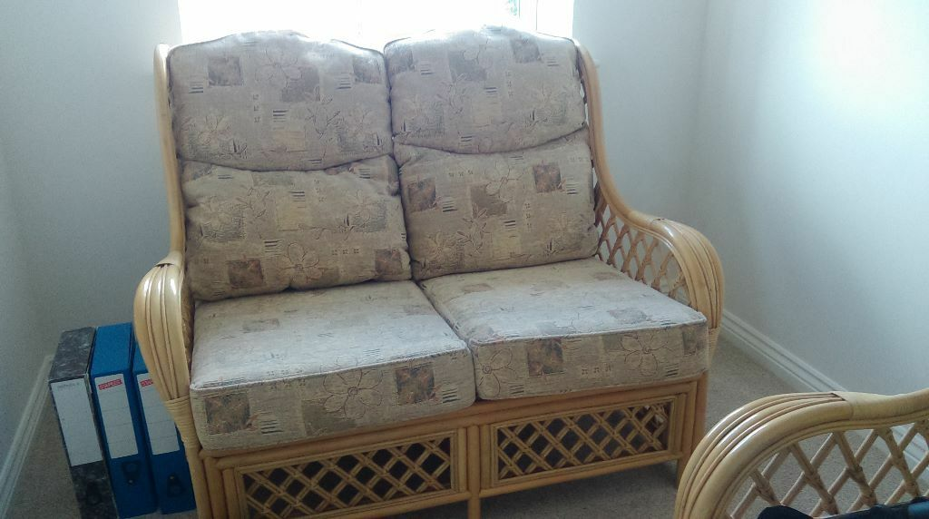 Wicker Cane Light Wood Conservatory Furniture Sofa And 2 Chairs In Telford Shropshire Gumtree