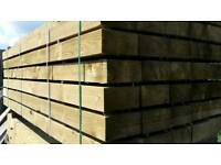 "Tanalised Railway Sleepers - 8"" x 4"" x 8ft Approx - 200mm x 100mm x 2.4m"