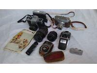 Pentax & Yoighander Cameras & attachments