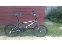 Boys BMX with bicycle lock