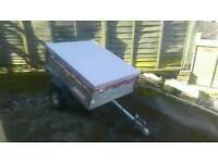 Mint condition metal galvanized erde trailer