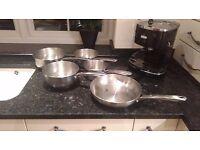 5 Piece Prestige Cookware Set - with lids