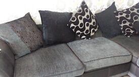 corner sofa and matching cuddle chair