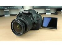 Canon 600d DSLR with kit 18-55mm lens