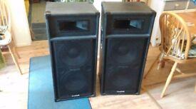 Pair of Sound lab speakers dj pa good working order