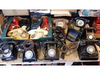 LOOKING FOR PRE 1980s TELEPHONES, OLD BAKELITE, VINTAGE, EARLY PLASTIC, JOB LOTS