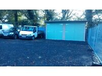Yard and double garage to rent