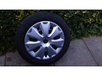16 inch Steel wheels with almost new winter tyres