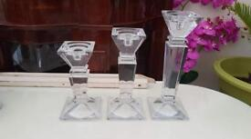 BEAUTIFUL HEAVY CLASS PILLARS, CANDLE HOLDERS ....£30....