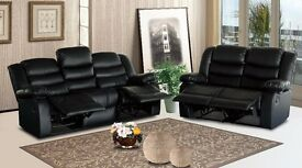 Sentor 3 and 2 seat leather recliner