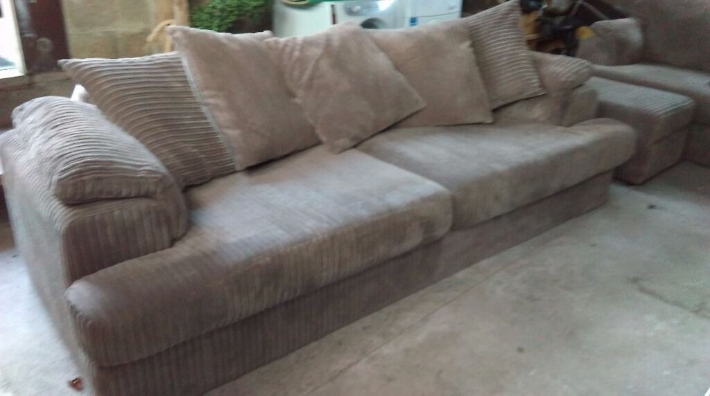 Good condition 1 year old sofa, chair and footstool