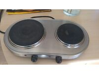 Stainless steel two ring table top electric cooker