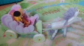 Wooden fairy unicorn carriage