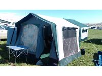 Cabanon Venus Trailer Tent with Tall Annexe and Bike Rack