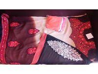 Heavy embroidery georgette partywear dress