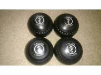 Taylor lignoid size 4 lawn indoor bowls woods balls