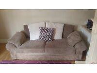 2 cream sofas perfect condition, memory foam