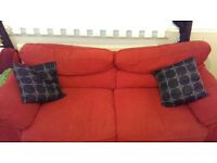 large red sofa for sale