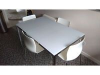 IKEA TORSBY DINING TABLE AND 4 IKEA DINING CHAIRS