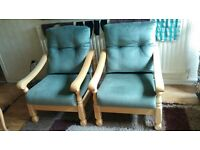 Matching Green Armchairs