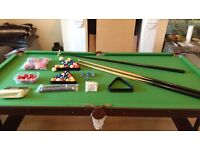 Snooker/Pool table for sale – very good condition. Full set of accessories. £55 o.n.o